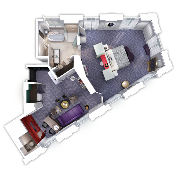 Stunning plan studio 20m2 images amazing house design for Amenagement studette